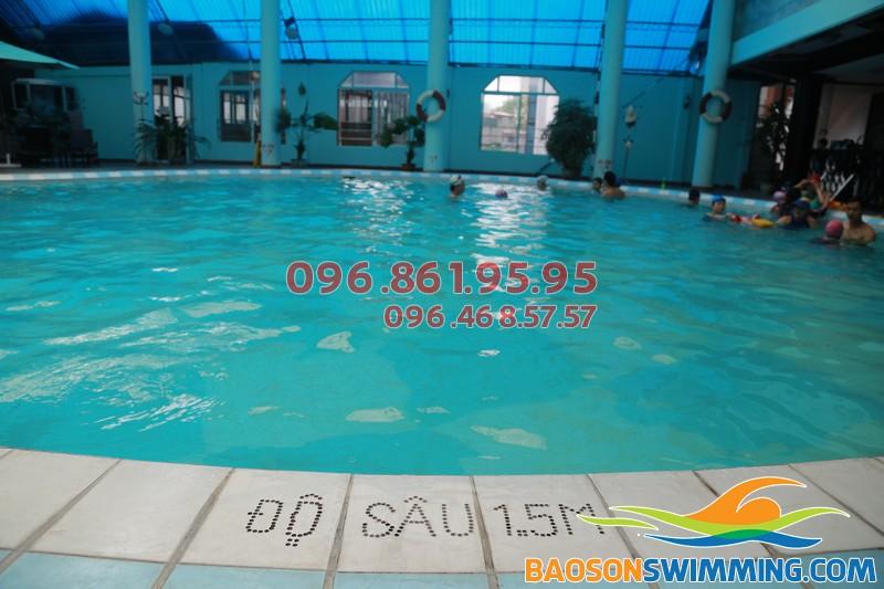 Bể bơi khách sạn Bảo Sơn - Địa điểm lý tưởng học bơi