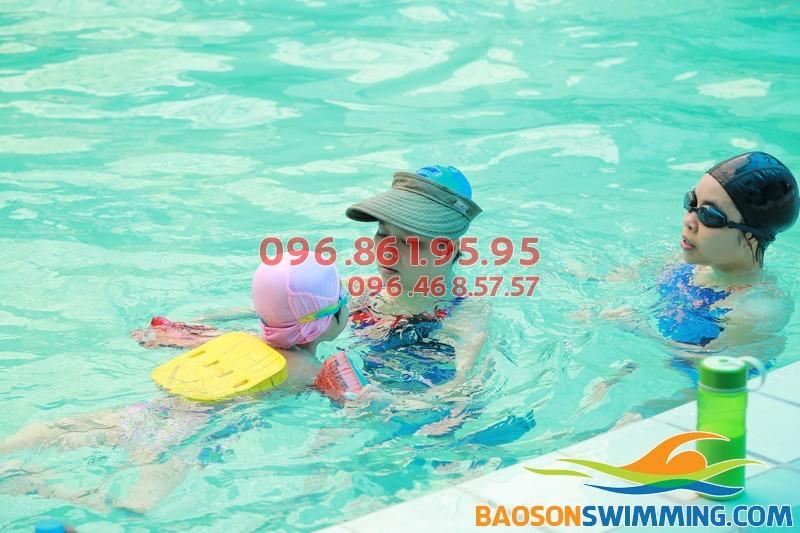 Chính thức tuyển sinh lớp học bơi kèm riêng cho trẻ em tại bể bơi Bảo Sơn