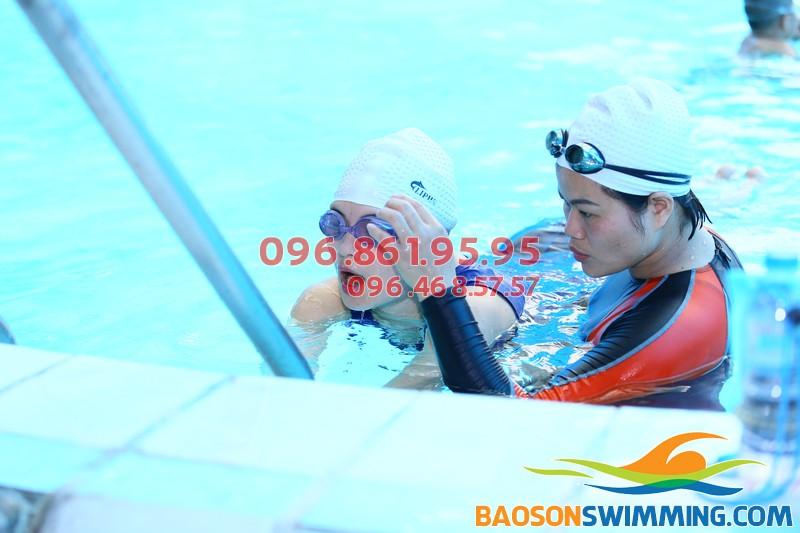 Khái quát quá trình học bơi ếch bể Bảo Sơn