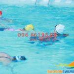Lớp học bơi mùa đông bể bơi khách sạn Bảo Sơn cho trẻ từ 4 đến 5 tuổi