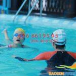 Hình thức tổ chức lớp học bơi người lớn bể Bảo Sơn 2018