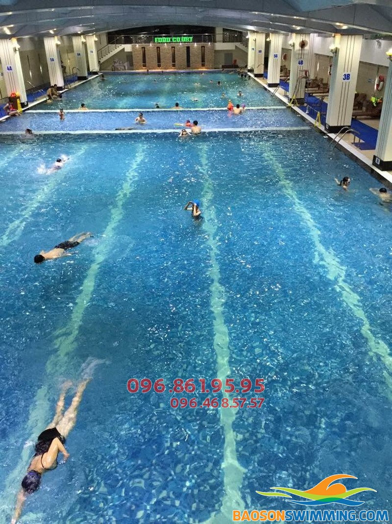 Bể bơi Hapulico là điểm thực hành bơi lý tưởng cho học viên