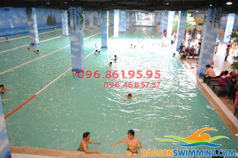Bể bơi cao cấp ở Hà Nội - Bể bơi cao cấp Times City
