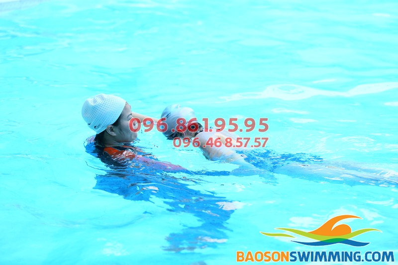 Dạy bơi kèm riêng tại bể Tăng Bạt Hổ