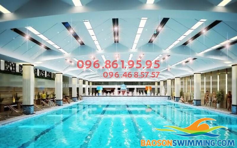 Bể bơi Hapulico thích hợp để học bơi trong mọi điều kiện thời tiết