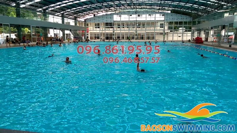 Top bể bơi trong nhà giá rẻ tại Hà Nội - bể bơi Tăng Bạt Hổ